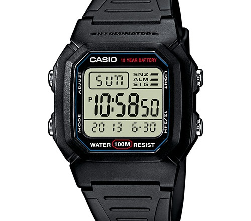 Orologio Casio da uomo W-800H-1AVES: pratico ed essenziale